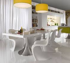 stunning of beautiful modern oversized yellow pendant light in kitchen over white dining table set in addition to window curtains beautiful modern kitchen lighting pendants yellow