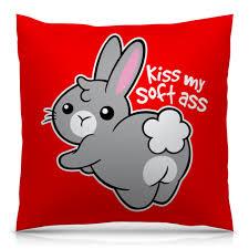 Подушка 40х40 с полной запечаткой Kiss my soft ass #2691856 в ...