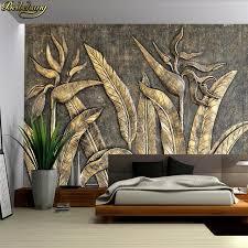 <b>beibehang Custom</b> Photo <b>Wallpaper Mural</b> Golden Bird Sculpture ...