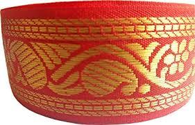 KVR Nylon Silk <b>Woven</b> Jacquard <b>Embroidered</b> ribbon Lace 25 <b>yard</b>