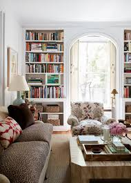 Living Room With Bookcase Home Tour A Young Designers Chic Pre War Apartment Classic