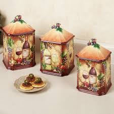 Green Kitchen Canister Set Amazing Grape Kitchen Decor 7 Wine Map Grapes Kitchen Canister