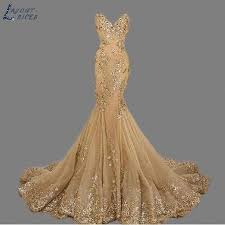 SQ208 <b>robe de soiree Sweetheart</b> Vintage Gold Mermaid Evening ...