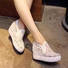 Pure Color Leisure <b>Net Gauze</b> Hollowed Shoes – shegenie
