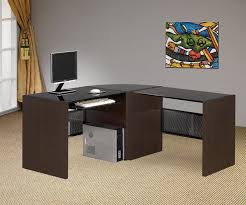 black contemporary l shaped office desk black shaped office desks