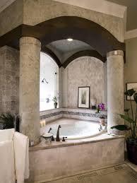 bathroom designs luxurious: bathroomluxurious tiny bathroom decorating idea with damask walls and glass shelving impressive classic tiny