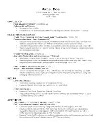 what should a college graduate resume look like college resume  excellent