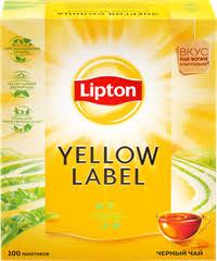 <b>Чай черный LIPTON</b> Yellow Label к/уп – купить в сети магазинов ...
