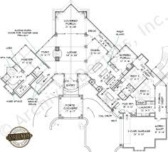 Lake Burton Lodge House Plans   Home Plans By Archival DesignsLake Burton Lodge House Plan   Lakefront Lodge Cottage Craftsman Style House Plan   Archival Designs