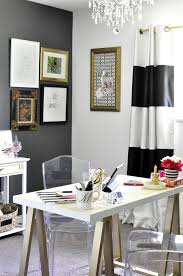 this black white gold home office is filled with diy projects and inspiration that black and white office