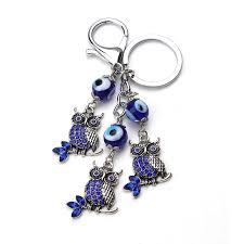 <b>EVIL EYE</b> new <b>fashion Turkey blue evil eye</b> owl keychain animals ...