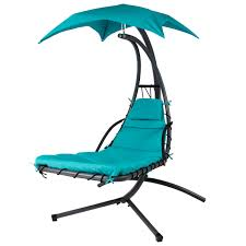 patio swing curved canopy hanging chaise lounger chair arc stand air porch swing hammock chair c