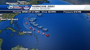 Hurricane Jerry now a Category Two storm