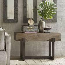 TIMBER <b>Console Table Solid Mindi</b> Wood,Metal, Rustic Brownlic ...