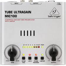<b>Behringer</b> Tube Ultragain <b>MIC100</b> Microphone Preamp | Sweetwater