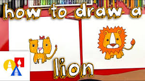 How To Draw A Cartoon <b>Lion</b> - YouTube
