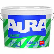 <b>Фасадная</b> фактурная <b>краска</b> с армирующими волокнами <b>Aura</b> ...