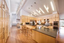 sloped ceiling lighting kitchen contemporary with bamboo floor breakfast bar ceiling light sloped lighting