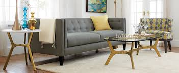 shop aidan sofa elke glass coffee table elke round marble side table and more child friendly furniture