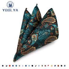 <b>Luxury Men's</b> Silk <b>Handkerchief Hanky</b> Man Paisley Floral <b>Jacquard</b> ...