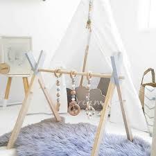 Online Shop <b>Nordic Simple Wooden</b> Newborn Baby Fitness Rack ...
