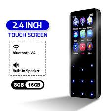 8GB 16GB <b>2.4 inch bluetooth</b> MP3 MP4 Player Music Player Support ...