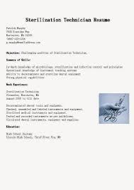 sterile processing resume sterile processing resume 0553