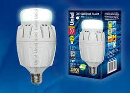 Светодиодная <b>лампа Uniel LED</b>-<b>M88</b>-<b>50W</b>/<b>NW</b>/<b>E27</b>/<b>FR</b> ALV01WH ...