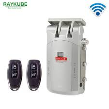 RAYKUBE Electric <b>Door Lock</b> Wireless Control With Remote Control ...