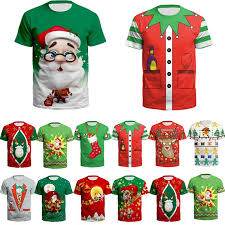 <b>Christmas Santa</b> Claus T Shirt Man Summer 3D Cartoon <b>Print</b> Short ...