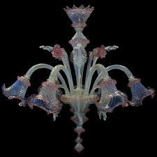 Lampadario Murano Rosa : Lampadario luci vetro artistico veneziano colore opalino in fogo