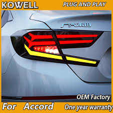 <b>Car Styling</b> for Accord <b>Tail Lights</b> 2018 New Accord 10th LED Tail ...