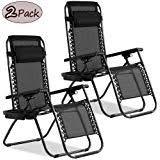 Zero Gravity Chair Lounge <b>Patio Chairs</b> Set of <b>2</b> Adjustable ...