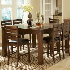 dining room pub style sets:  pc eagleville collection warm cherry finish wood counter height dining table set with vinyl padded seats this set includes the table with one butterfly