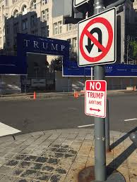 turn any area into a no trump zone printable street signs no trump signs appear in cities across the usa signs spotted in