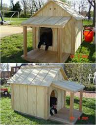 Large Outdoor All Weather Covered Porch Wood Cabin Hunting Dog    Large Outdoor All Weather Covered Porch Wood Cabin Hunting Dog Kennel Doghouse   Dog Houses  Wood Cabins and Dog Supplies