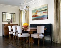 large table banquette chairs serves saveemail acdfed  w h b p contemporary dining room