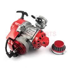49CC Engine Aluminum <b>Pull Start</b> 15MM Carburetor CNC head Air ...