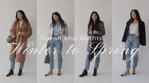 <b>Easy Outfits</b> You Already Own | Winter To <b>Spring</b> Transition - YouTube