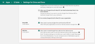shared contacts bettercloud help center this setting is found by going to g suite > drive and docs > data access and selecting allow users to install google docs add ons from add ons store