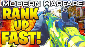 HOW TO RANK UP FAST IN MODERN WARFARE! HOW TO LEVEL ...