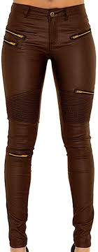 <b>PU</b> Leather <b>Denim</b> Pants for Women Sexy Tight Stretchy Rider ...