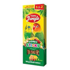 <b>Happy Jungle</b>, <b>палочки для</b> птиц микс 3 вкуса, 3 шт.
