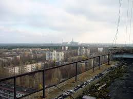 chernobyl this is about what happen to the chernbyl nuclear view of chernobyl power plant taken from the roof of a building in pripyat ukraine