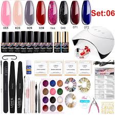 Manicure <b>Set 36W</b> USB Lamp 10 Pcs Nail Polish Nail Art Tools Kit ...