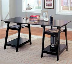 glass office tables wooden glass desk with compartement amazing black glass office