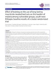 Effect of training on the use of long lasting insecticide treated