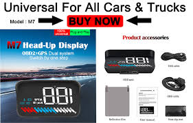<b>GEYIREN</b> A900 Car HUD <b>OBD</b> RPM Meter Head Up Display Car ...
