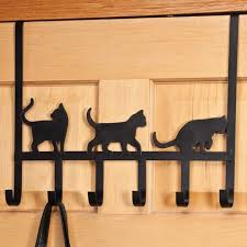 black cat bathroom accessories set unique walter drake playful black cat over the door hooks organize living spa