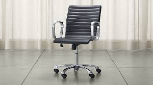 ripple black leather office chair black office chair